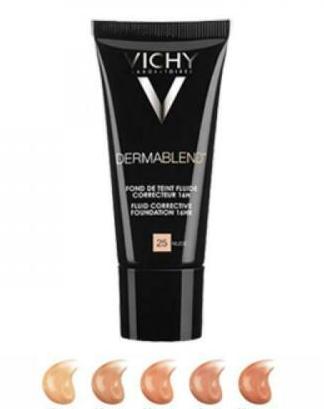 Come eliminare l'alone barba con il fondotinta coprente Vichy Dermablend.